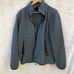 The North Face zip up fleece jacket, M